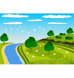 Green beauty landscape vector image