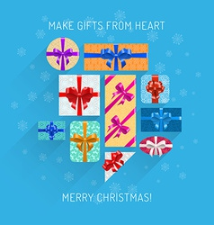 Gifts in beautiful packing vector