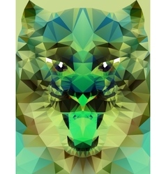Abstract polygonal tiger vector