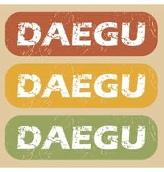 Vintage daegu stamp set vector