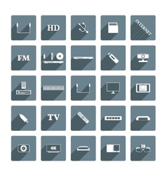 Icons digital devices vector