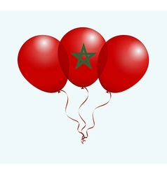 Balloons in as morocco national flag vector