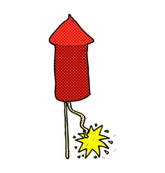 Comic cartoon firework vector