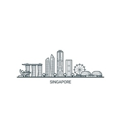 Outline Singapore banner vector image