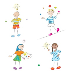 Learning kids vector
