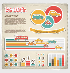 big traffic infographics vector image