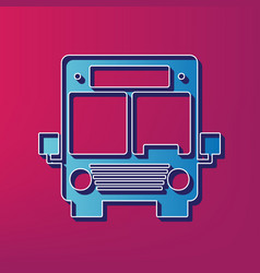 Bus sign blue 3d printed vector