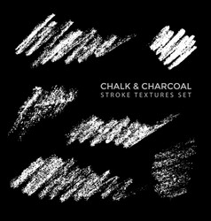Chalk charcoal realistic texture vector