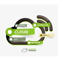 cloud storage icon infographic concept vector image vector image