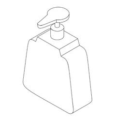 Dispenser bottle icon isometric 3d style vector