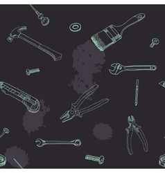Doodle style tools background - seamless vector image vector image