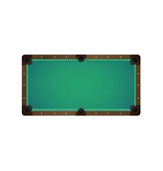 flat billiard pool snooker empty table vector image