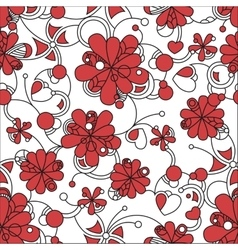 Floral seamless background pattern for continuous vector