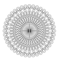 Foral mandala vector