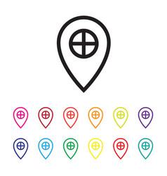 gps services icon set vector image vector image