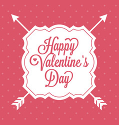 happy valentine day alphabet with vintage vector image