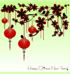 Holiday postcard to chinese new year vector
