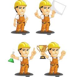 Industrial Construction Worker Mascot 5 vector image vector image