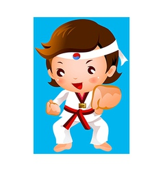 Kick of martial artist vector
