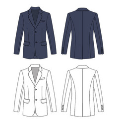 long short sleeved mans buttoned jacket vector image