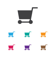 Of business symbol on pushcart vector