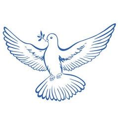 pigeon dove icon vector image vector image