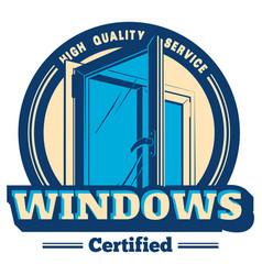 plastic window logo vector image vector image
