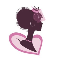 Portrait of a Princess vector image vector image
