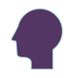 Purple silhouette profile head human vector