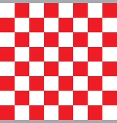 Red and white checker pattern vector