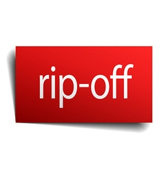 Rip-off red paper sign isolated on white vector