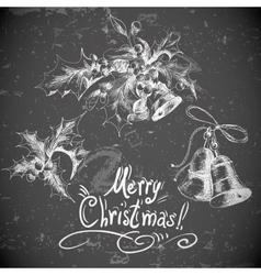set vintage Christmas design elements vector image
