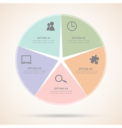 Star Infographic Business Infographics vector image vector image
