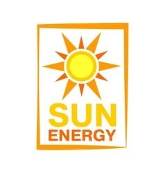 Sun energy icon vector
