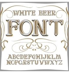 Vintage label font beer style vector