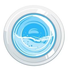 Washing Machine Door vector image