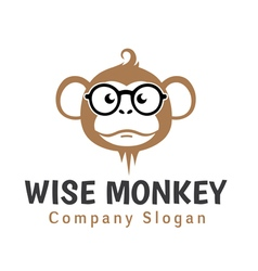 Wise monkey design vector