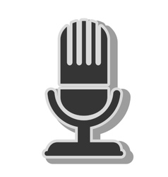 Radio microphone theme design icon vector