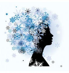 winter season vector image