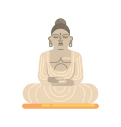 Statue of buddha sitting in lotus pose famous vector