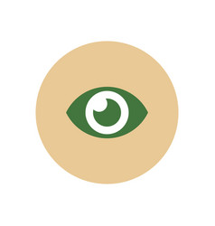 Stylish icon in color circle human eye vector