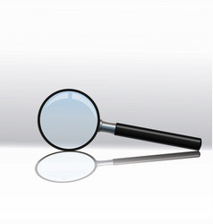 magnifying glass isolated on a transparent vector image