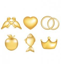 golden set vector image