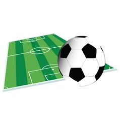 Football court and ball vector