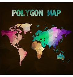 World map background in polygonal style vector