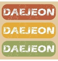 Vintage daejeon stamp set vector