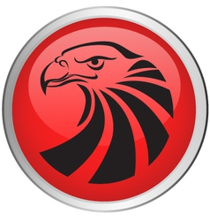 eagle head button vector image