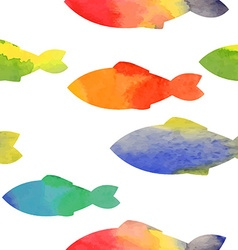 Fishes watercolor vector