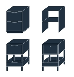 Office drawers vector