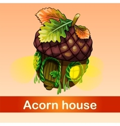 Fabulous house of acorn vector
